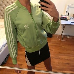 adidas Jackets & Coats - Adidas light green zip up hoodie